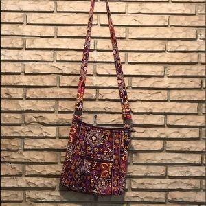 Vera Bradley crossbody purse purple orange